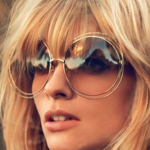70's hipster Oversized Round Sunglasses shades